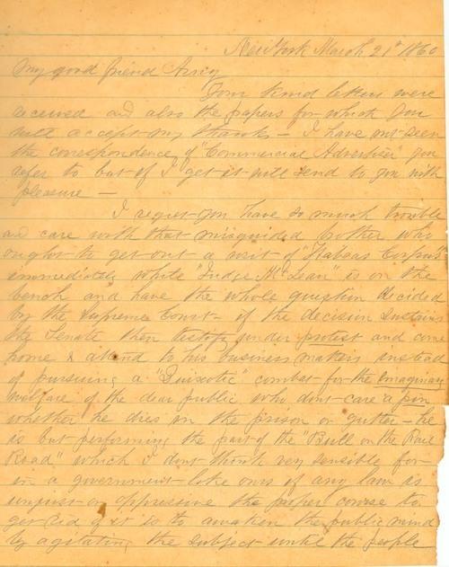 Theodore Hyatt to William Frederick Milton Arny - Page