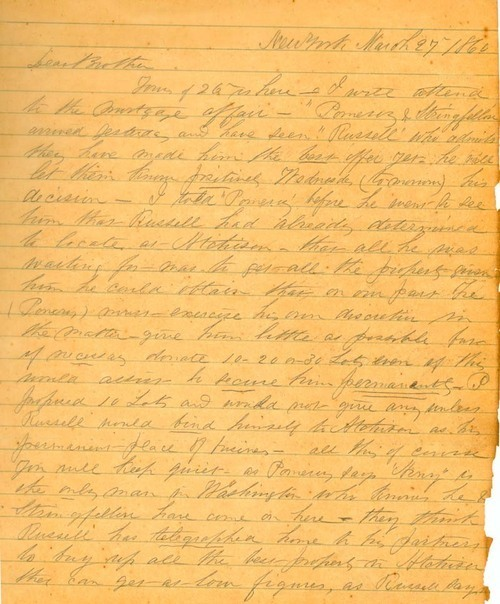 Theodore Hyatt to Thaddeus Hyatt - Page