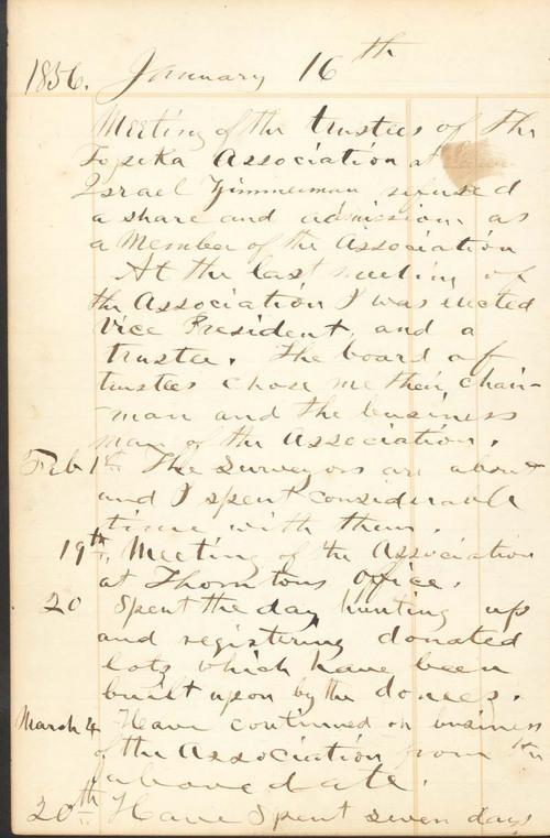 Franklin Loomis Crane Journal - Page