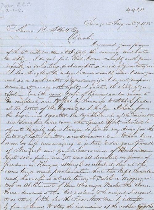 L.C.P. Freer to James B. Abbott - Page