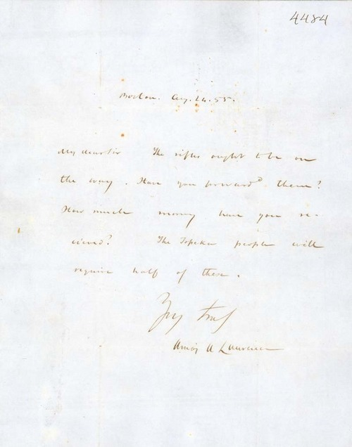 Amos A. Lawrence to James B. Abbott - Page