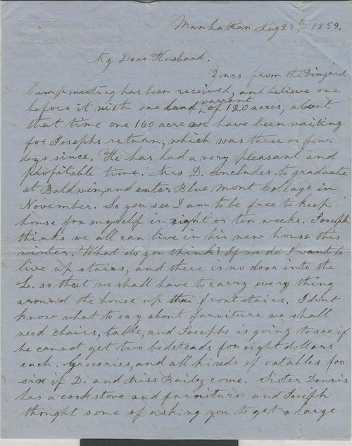 Ellen D. Goodnow to Isaac Goodnow - Page