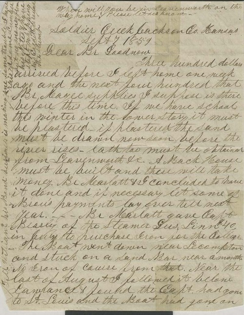Joseph Denison to Isaac Goodnow - Page