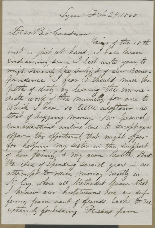 William R. Clark to Isaac Goodnow - Page