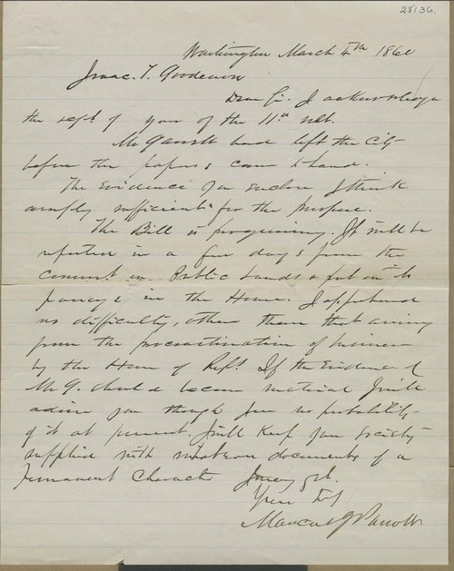 Marcus J. Parrott to Isaac T. Goodnow - Page