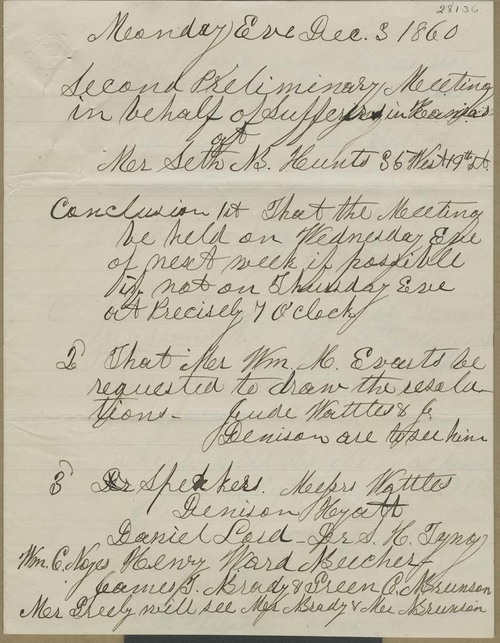 "Minutes, meetings ""on the behalf of sufferers in Kansas"" - Page"