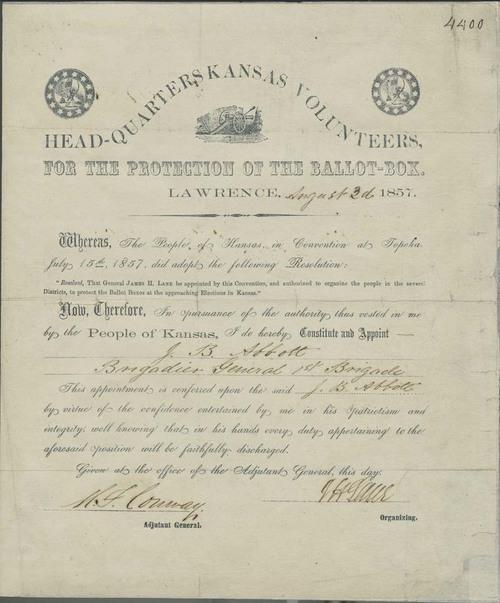 Certificate, James Abbott as Brigadier General - Page