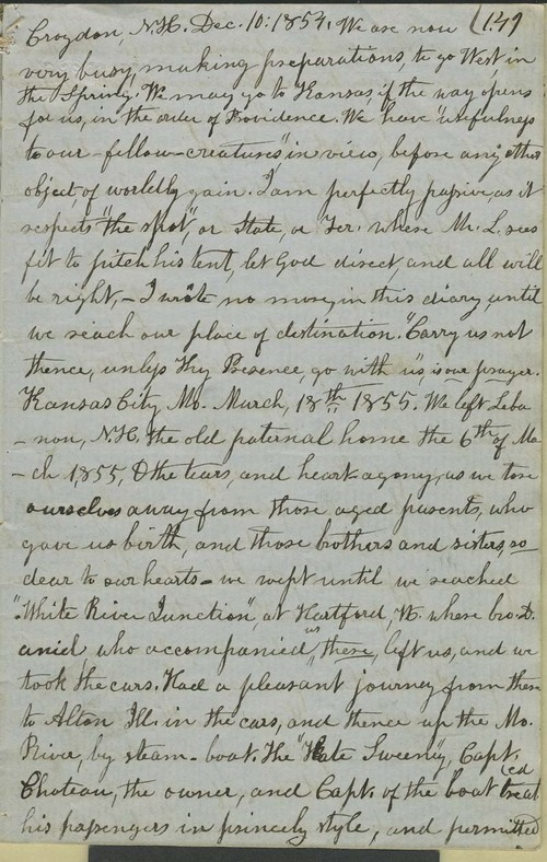 Julia Hardy Lovejoy's diary - Page