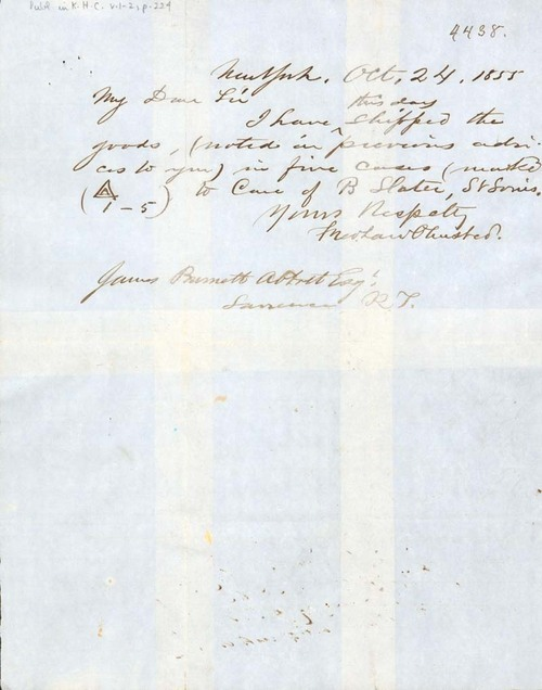 Frederick Law Olmsted to James B. Abbott - Page