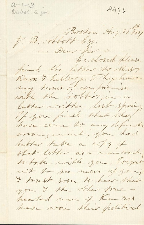 Samuel Cabot Jr. to James B. Abbott - Page