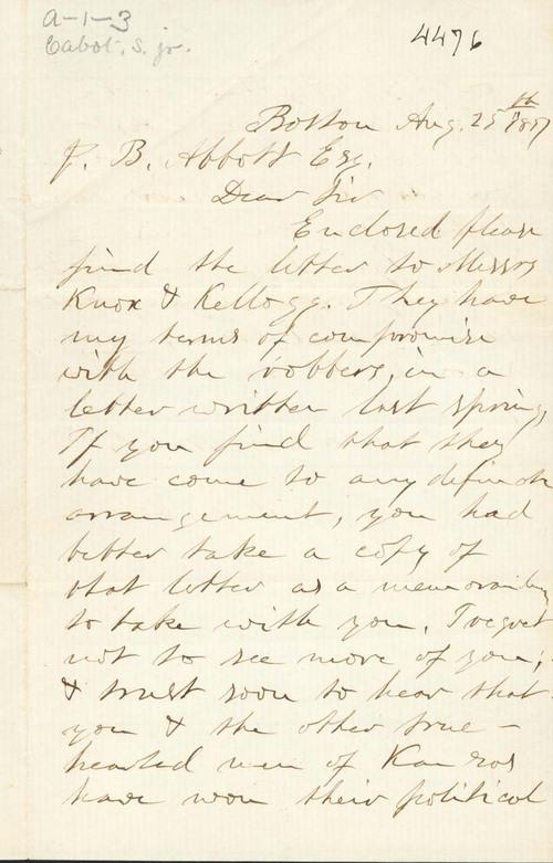 Samuel Cabot Jr. to James B. Abbott - Page