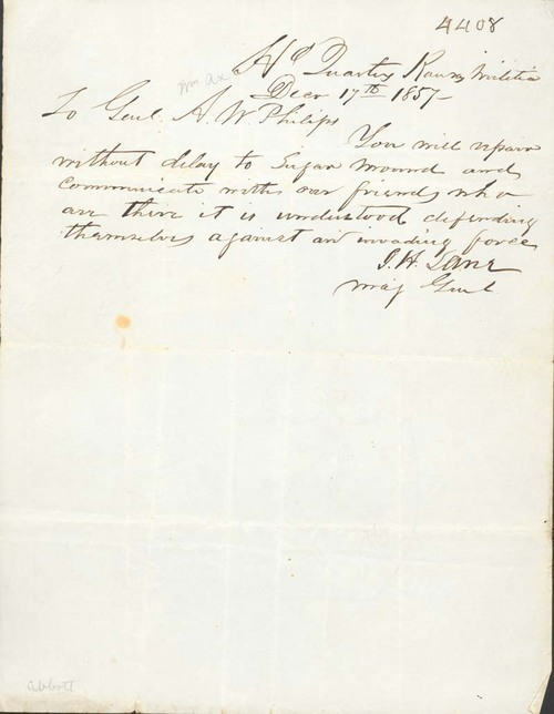 James Henry Lane to A. W. Philips - Page