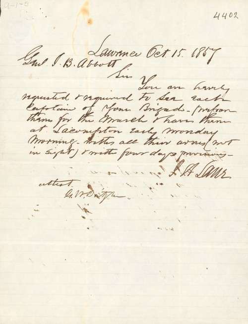 James H. Lane to James B. Abbott - Page
