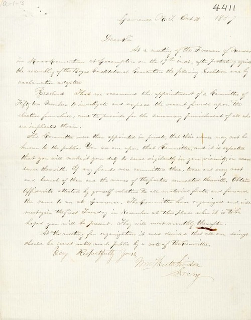 William Hutchinson to James B. Abbott - Page