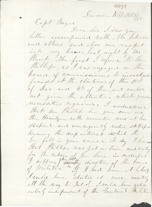 James B. Abbott to O. P. Bayne - Page