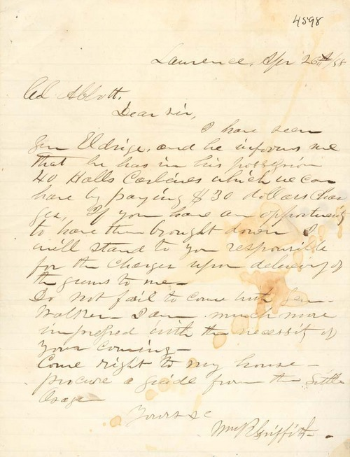 William R. Griffith to James B. Abbott - Page