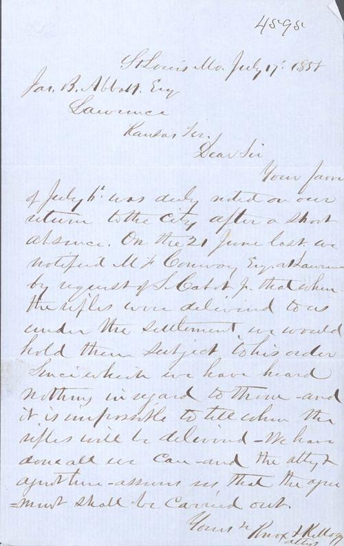 Knox & Kellogg to James B. Abbott - Page