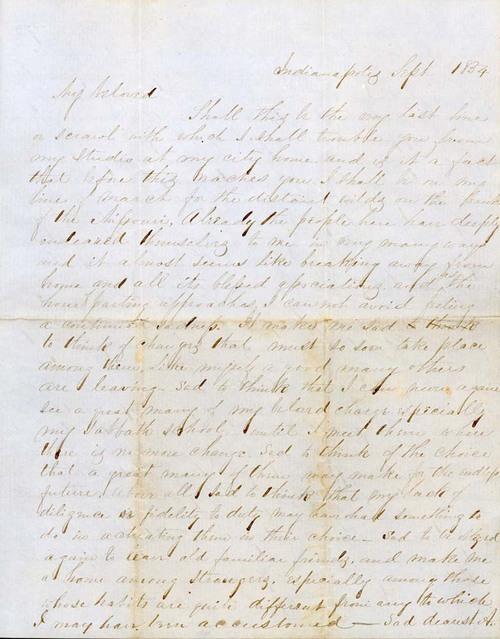 James Griffing to J. Augusta Goodrich - Page