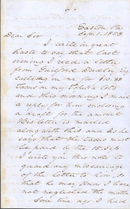 A. H. Reeder to Franklin Crane - Page