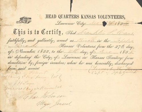 Certificate of Service, Franklin L. Crane, Jr. - Page