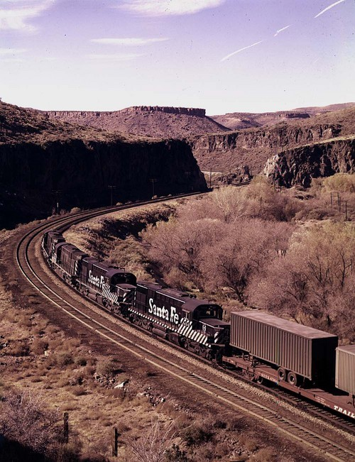Westbound freight, Crozier Canyon, Arizona - Page