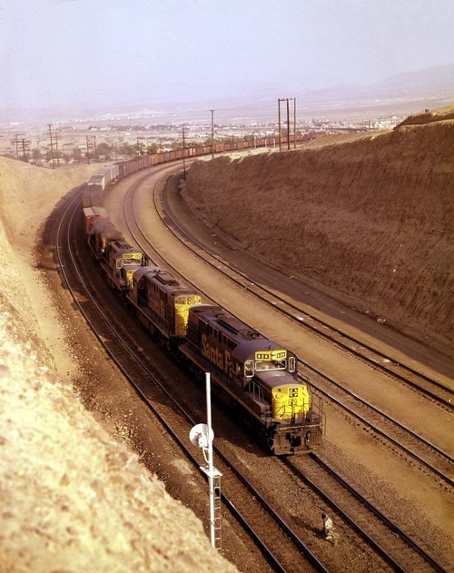Westbound freight, Barstow, California - Page
