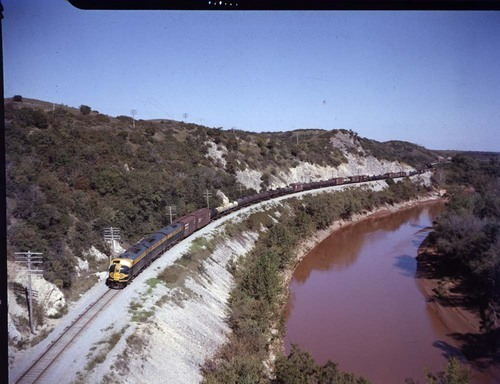 Freight train, Washita River Canyon, Oklahoma - Page