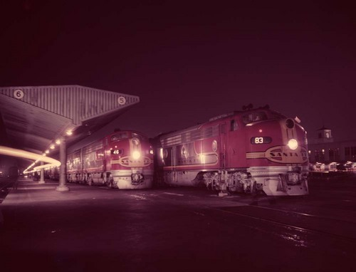 Super Chief and San Diegan Power trains, Los Angeles, California - Page