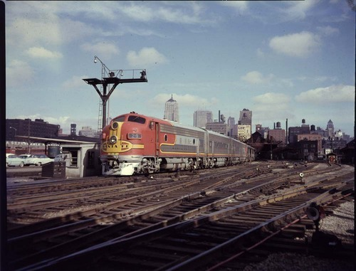 """Santa Fe Chief"" train, Chicago, Illinois - Page"