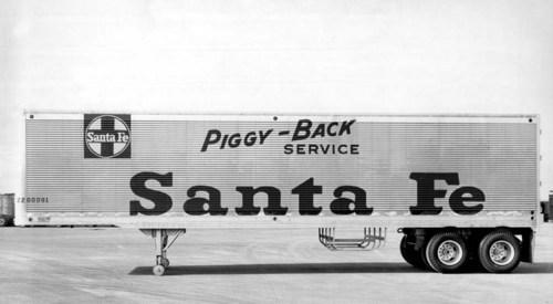 Atchison, Topeka, & Santa Fe Railway Company's piggy-back trailer - Page