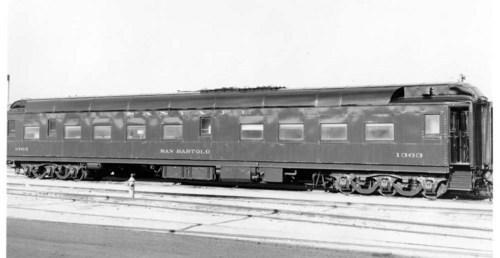 Atchison, Topeka, & Santa Fe San Bartolo lounge car #1363. - Page