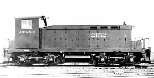 Atchison, Topeka, and Santa Fe switch engine # 2152. - Page