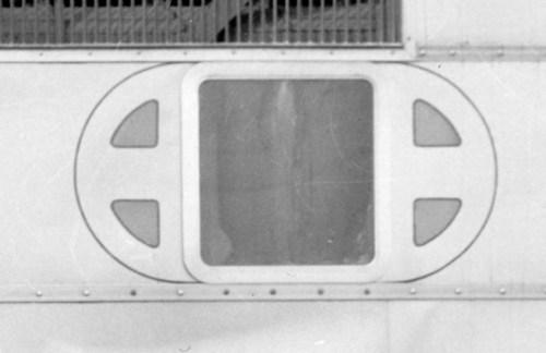 Train window with stylized Santa Fe logo - Page