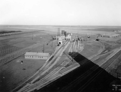 View of Wellington railroad tie treating plant in Kansas - Page