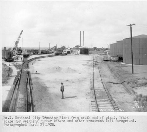Atchison, Topeka, & Santa Fe tie treating plant, National City, California - Page