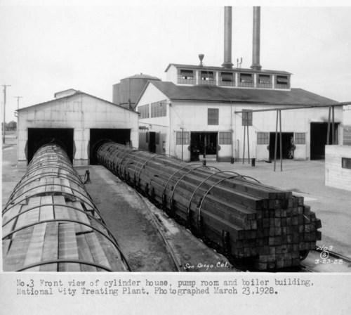 Atchison, Topeka, & Santa Fe tie treating plant, National City, California - Page