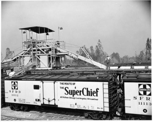 Atchison, Topeka, & Santa Fe Railway Company Self Propelled Icing Machine - Page