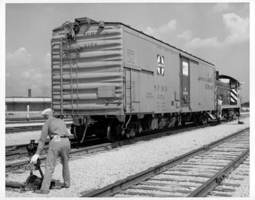 Atchison, Topeka, & Santa Fe Railway Company Refrigerator Car, Corwith yard, Chicago, Illinois. - Page