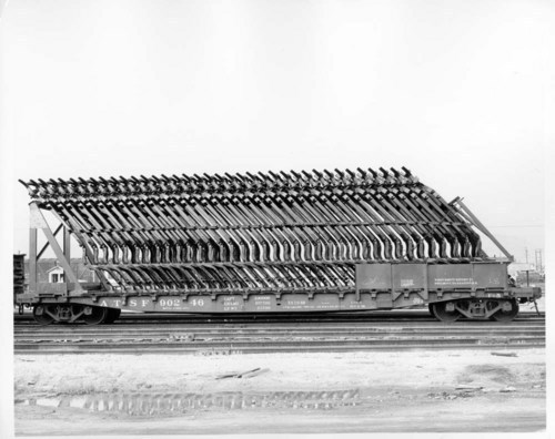 GSC flat car with automobile frames - Page