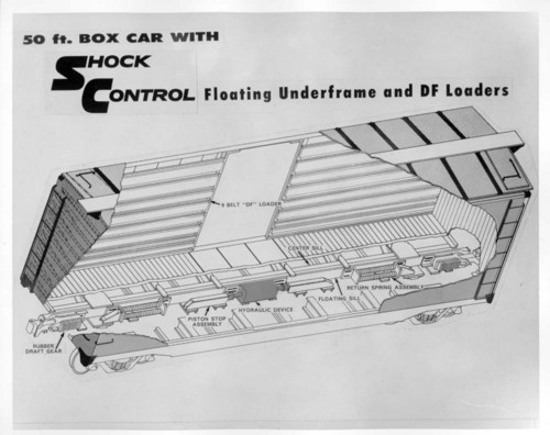 Cutaway drawing for 50' box car - Page