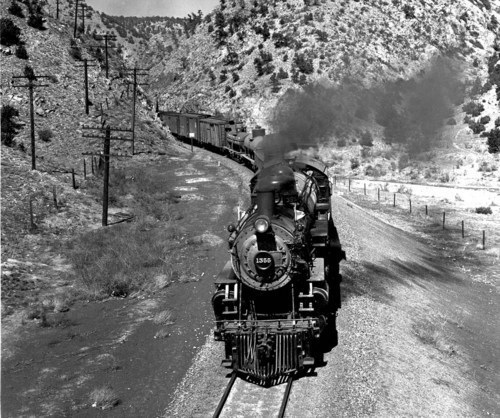 Freight train, Apache Canyon, New Mexico - Page